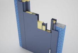 Цельногнутая металлическая дверь