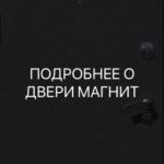 Подробное описание двери Магнит
