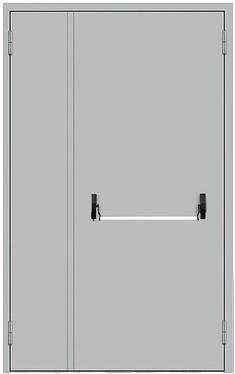 Дымогазонепроницаемая двупольная дверь с антипаникой EIS60