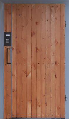 Металлическая дверь с вагонкой СМК В-9