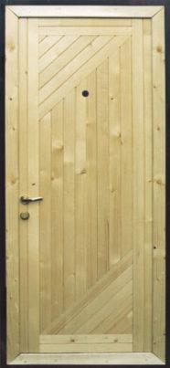 Металлическая дверь с вагонкой СМК В-4