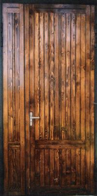 Металлическая дверь с вагонкой СМК В-2