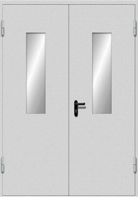 Двупольная дверь EIWS-30 с двумя узкими стёклами