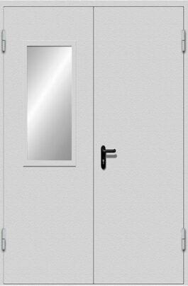 Двупольная дверь EIS-60 с двойным стеклом