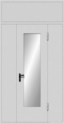 Дымогазонепроницаемая дверь со стеклом EIWS-60