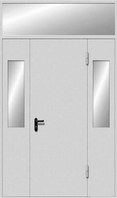 Дверь EIS-30 с остекленными боковыми и верхней фрамугами