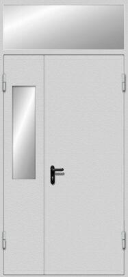 Противопожарная полуторная дверь EI-60