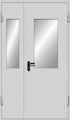 Дверь двухстворчатая с стеклами EIWS-30